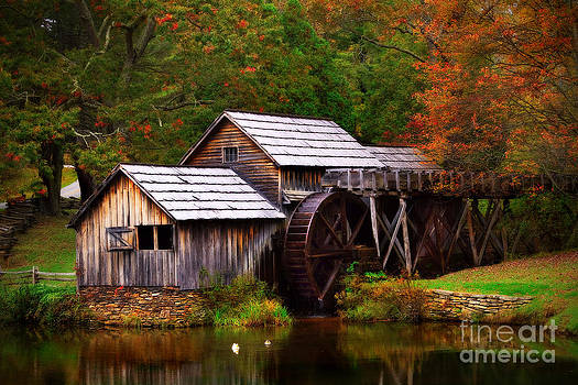 Fall at Mabry Mill by T Lowry Wilson