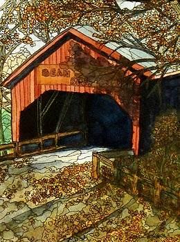Fall At The Bridge by Donna Whitsitt