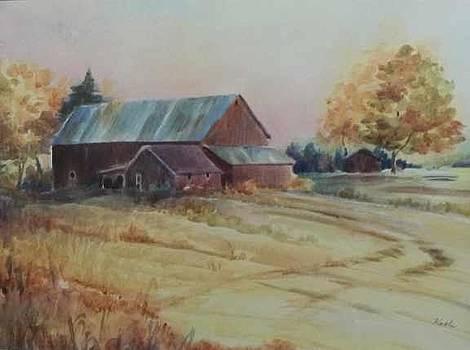 Fall Barn by Carol Kable