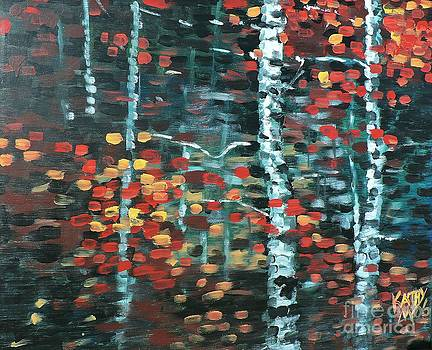 Fall Birch by Kathy Meredith