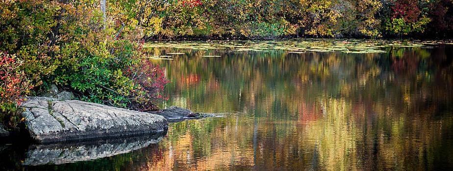 Fall Colors on Ramapo Lake by Jim DeLillo
