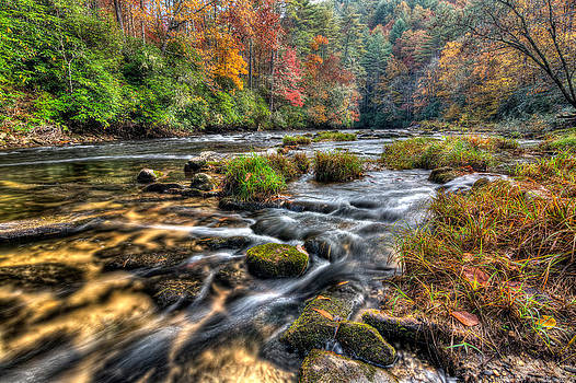 Fall Colors on The Chattooga River by Dustin Ahrens