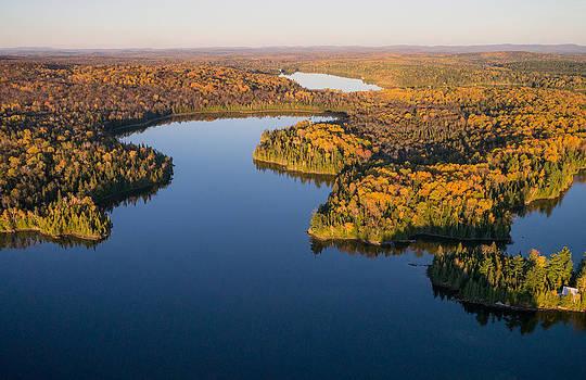 Fall Colours on Big Cedar Lake. Quebec by Rob Huntley