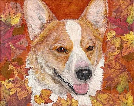 Fall Corgi by Karen Howell