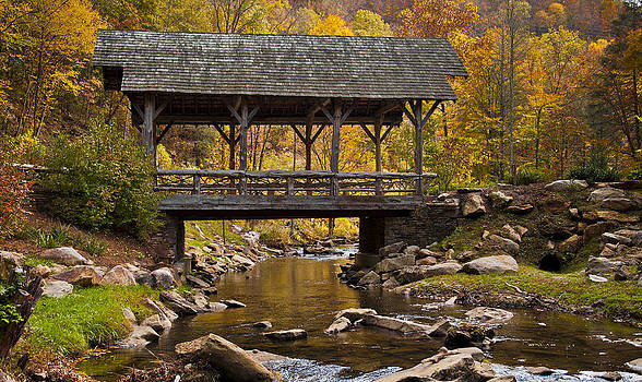 Fall Covered Bridge by Rick Hartigan