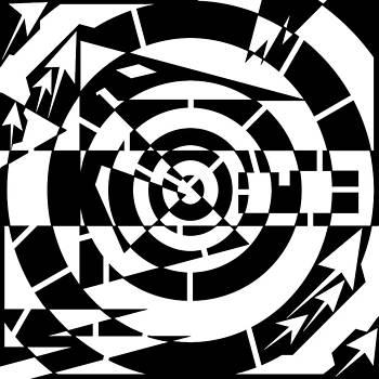 Fall down a Mine Shaft Maze  by Yonatan Frimer Maze Artist