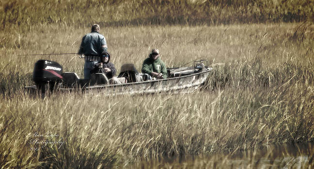 Fall Fishing in the Marsh by Stanley Lupo