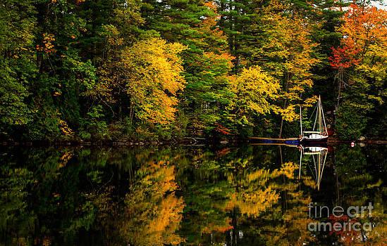 Brenda Giasson - Fall Foliage Sail Boat