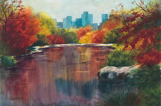 Fall in Central Park New York City by Barb Capeletti