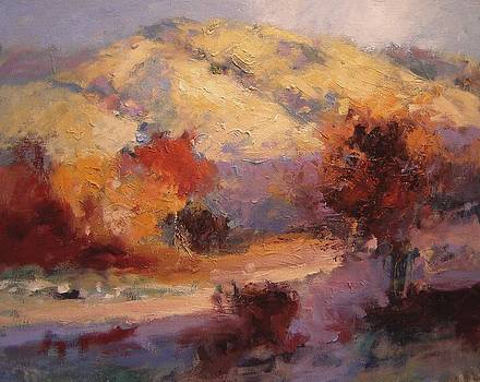 Fall in the foothills II by R W Goetting