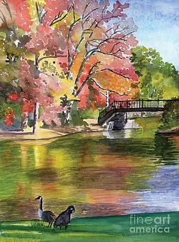 Fall Light - Roger Williams Park by Hollis Machala