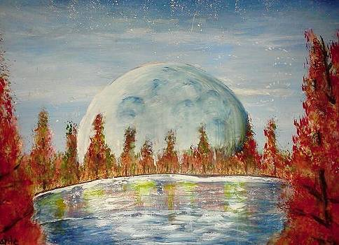 Fall Moon Rising by Carol Duarte