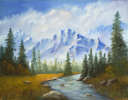 Fall Mountain Scene by Diane Gowin