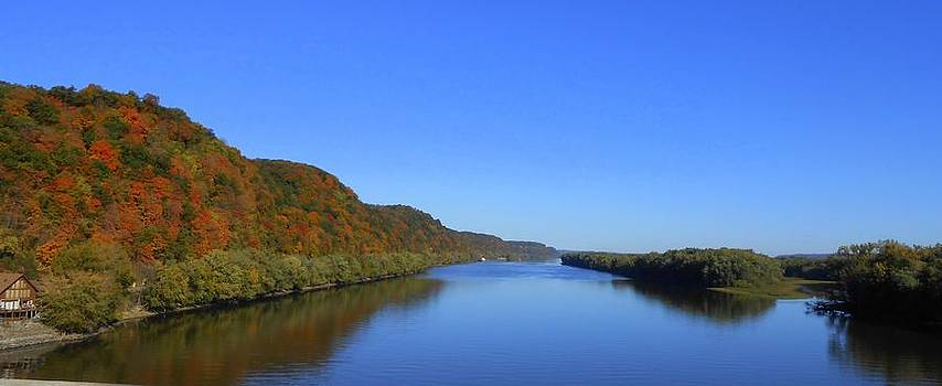 Fall On The Mississippi River  by Dina Stillwell