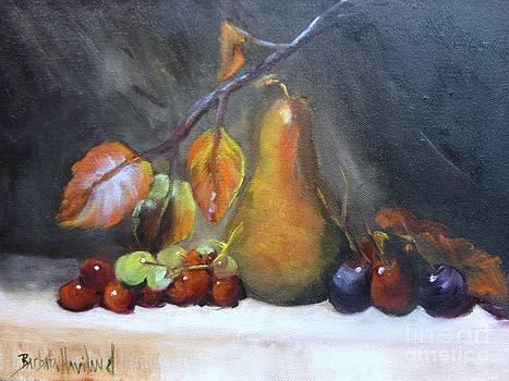 Fall Pear and Grapes by Barbara Haviland