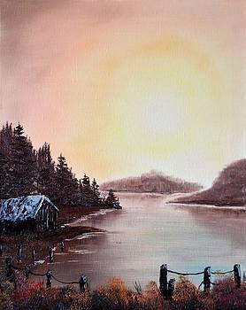 Fall Sunset on the Bay by Marsha Thornton