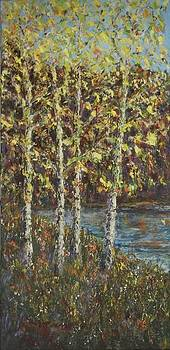 Fall Trees by Mary Henne