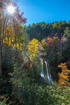 Fall Waterfall by Donna Vasquez