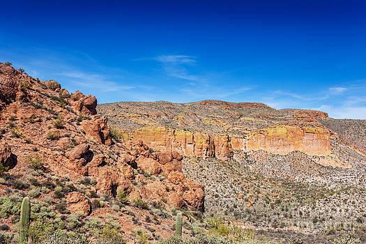 Jo Ann Snover - Fallen boulders on desert hillsides