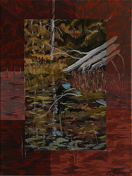 Fallen Trees at the Marsh by David Gilmore