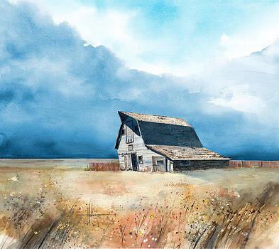Falling Barn by Richard Hahn