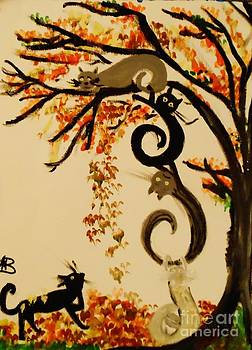 Falling Cats and Leaves by Marie Bulger