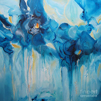 Falling into Blue II by Elis Cooke