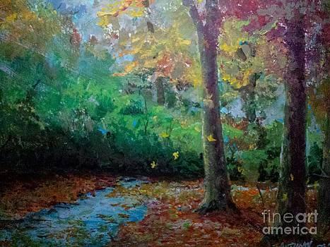 Falling Leaves II by J Anthony Shuff