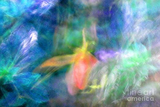 Heather Kirk - Falling Petal Abstract Blue Green Pink B