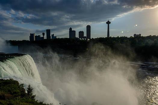 Falls at Sundown by Pat Scanlon