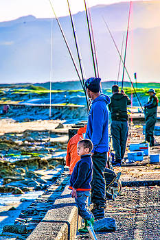 False Bay Fishing 2 by Cliff C Morris Jr