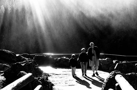 Family at the Falls by Tom Wenger