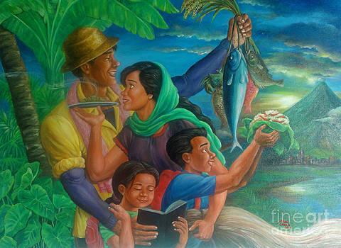 Family Bonding In Bicol by Manuel Cadag