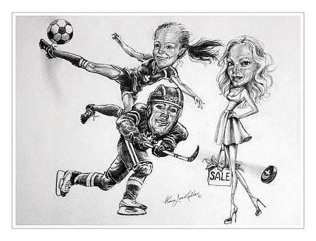 Hanne Lore Koehler - Family Caricature