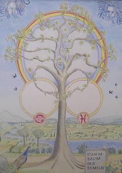 Family tree chart Zodiac by Alix Mordant