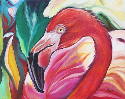 Fancy Flamingo by Eve  Wheeler