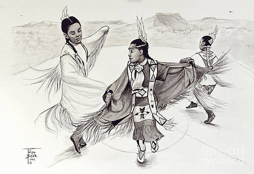 Art By - Ti   Tolpo Bader - Fancy Shawl Dance