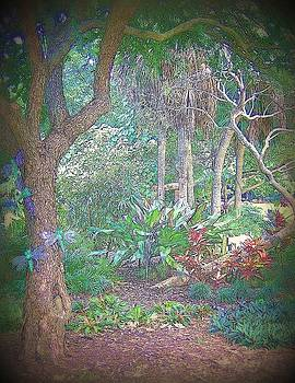 Fantasy Dragonfly Garden by Lois Bailey