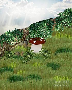 Fantasy Mushroom Background by ChelsyLotze International Studio