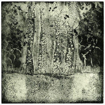 Faries Landscape -  Elves Dancing on the Clearing - Etching - Fine Art Print - Stock Image by Urft Valley Art