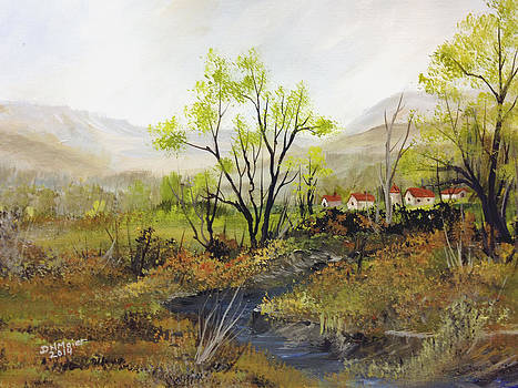 Farm along the river by Dorothy Maier