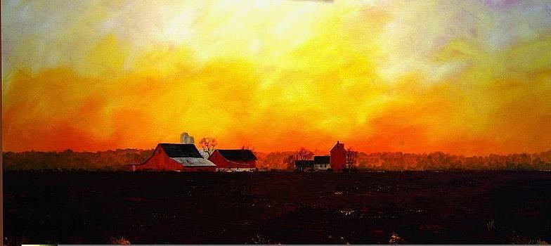 Farm at Dawn by William Renzulli