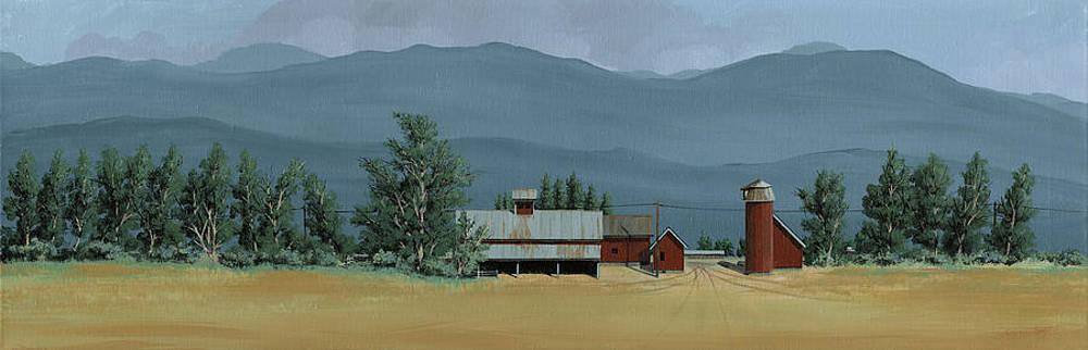 Farm in the Windbreak by John Wyckoff