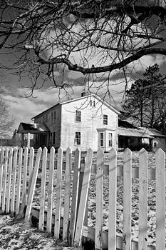 Farmhouse and Fence by Jeff Picoult