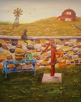 Farmhouse Waterpump by Nancy Stewart