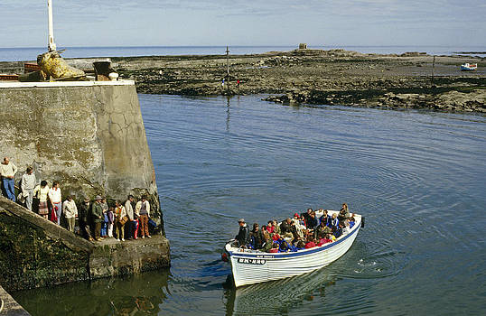Farne Islands Boat UK 1980s by David Davies