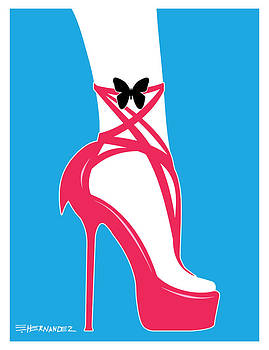 Fashionable Shoes Hot Pink by Ed Hernandez