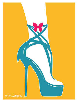 Fashionable Shoes in Turquoise by Ed Hernandez
