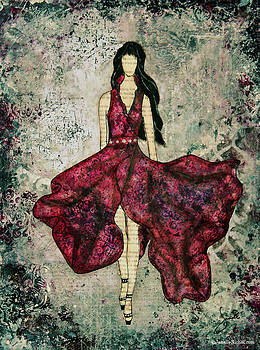 Janelle Nichol - Fashionista Mixed Media painting by Janelle Nichol