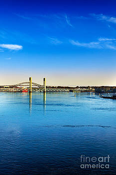 Jo Ann Snover - Fast moving Piscataqua River in Portsmouth
